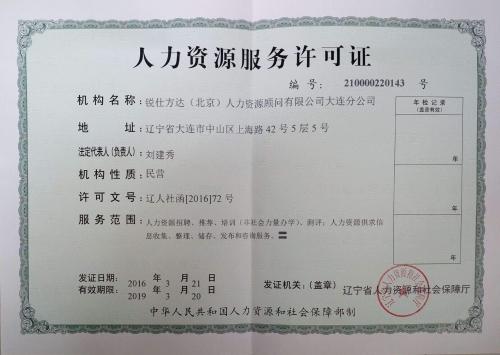 广州人力资源服务许可变更